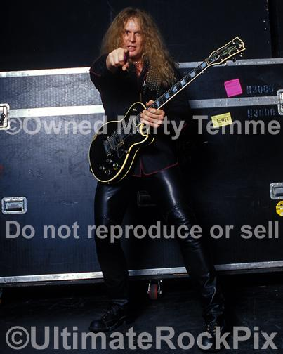 Photos of Guitar Player John Sykes of Thin Lizzy, Whitesnake and Blue Murder During a Photo Shoot in 2004 by Marty Temme