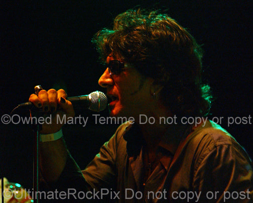 Photo of Terry Ilous of Great White in concert in 2010 by Marty Temme