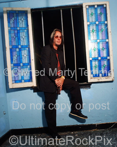 Photo of Todd Rundgren during a photo shoot in 2008 by Marty Temme