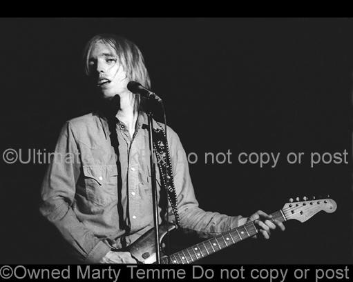 Photos of Tom Petty Playing a Fender Stratocaster in Concert in 1978 by Marty Temme