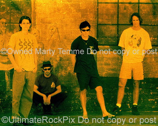 Photo of Adam Jones, Maynard James Keenan, Danny Carey and Paul D'Amour of Tool in 1994 by Marty Temme