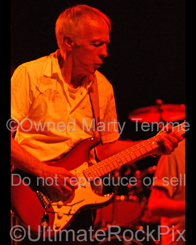 Photo of guitarist Robin Trower in concert in 2006 by Marty Temme
