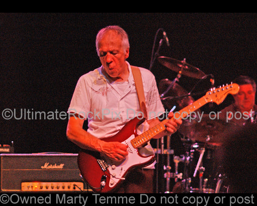 Photo of guitar player Robin Trower in concert in 2006 by Marty Temme