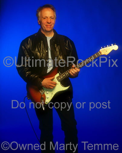 Photo of guitarist Robin Trower during a photo shoot in 1999 by Marty Temme