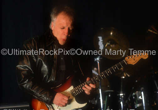Photo of guitarist Robin Trower in concert in 1999 by Marty Temme