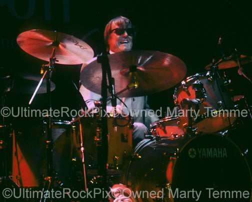Photo of drummer Prairie Prince of The Tubes in concert by Marty Temme