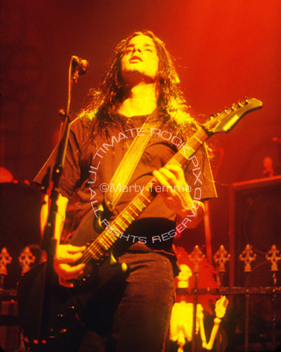 Photo of guitarist Kenny Hickey of Type O Negative in concert by Marty Temme