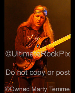 Photo of guitarist Uli Jon Roth in concert in 2008 by Marty Temme