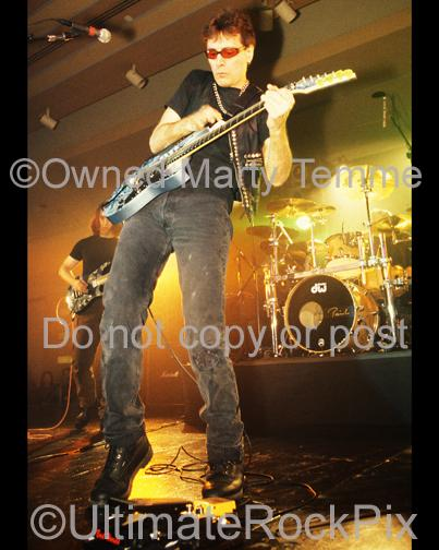 Photos of Guitar Player Steve Vai in Concert in 1998 by Marty Temme