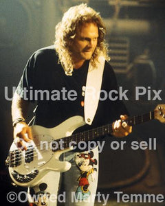 Photo of Bass Player Mike Anthony of Van Halen Playing a Music Man Bass by Marty Temme