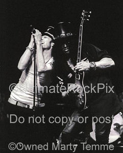 Black and White Photos of Scott Weiland and Slash of Velvet Revolver Performing in Concert by Marty Temme