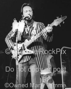 Photos of Bassist John Entwistle of The Who Playing his Alembic Bass in Concert in 1980 by Marty Temme
