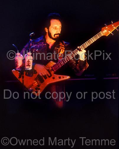 Photos of Bassist John Entwistle of The Who Playing his Alembic Bass in Concert in 1979 by Marty Temme