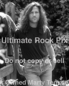 Black and white photo of Kip Winger during a photo shoot in 1993 - winger939bw