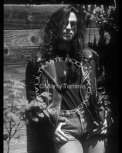 Black and white photo of Kip Winger on a photo shoot in 1993 by Marty Temme