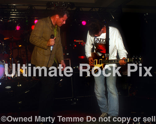 Photo of Pete and Franz Stahl of Scream, Wool and Goatsnake in concert in 1994 by Marty Temme