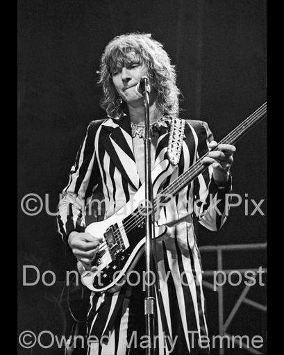 Photos of Bassist Chris Squire of Yes Performing Onstage in 1978 by Marty Temme