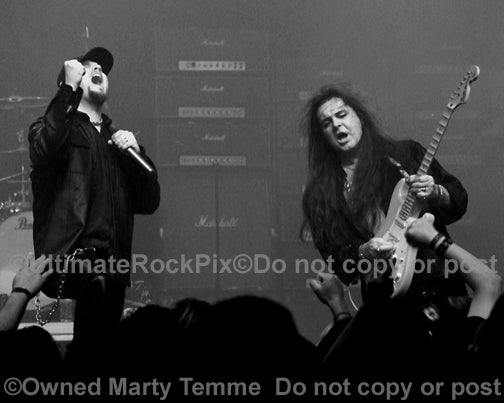 Photo of Yngwie Malmsteen and Tim Ripper Owens in 2008 by Marty Temme