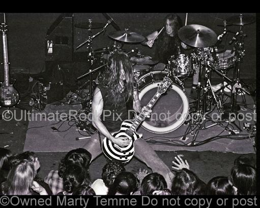 Photos of Guitarist Zakk Wylde and Drummer Brian Tichy of Pride & Glory in Concert in 1994 by Marty Temme