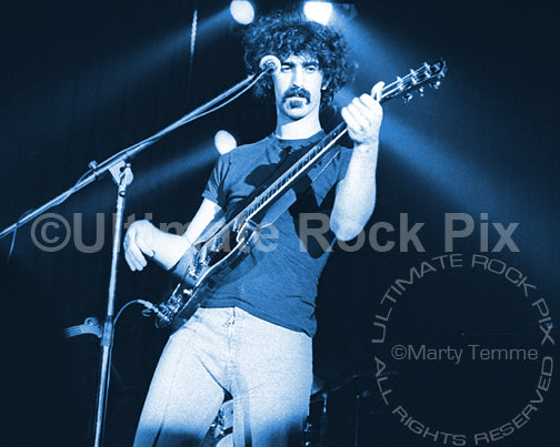 Art Print of Frank Zappa playing a Gibson SG in 1973
