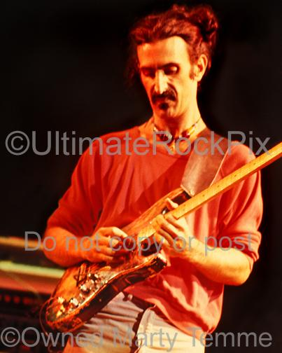 Photos of Frank Zappa in 1978 Playing a Fender Stratocaster Given to Him by Jimi Hendrix