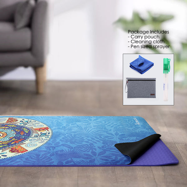 Non Slip Ultra Thin Yoga Mat 1mm For Advanced Users Eco-Friendly 178x61cm