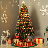 180cm 6 ft Christmas Tree Fibre Optic LED Light 4 Functions Animated in Multi, White, Warm Colour Lit