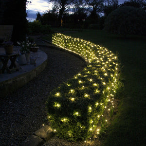 Solar 200-288 LED Net Lights 2.5 x 2.5m, 5.0 x 2.5m Multi White Warm White Colour