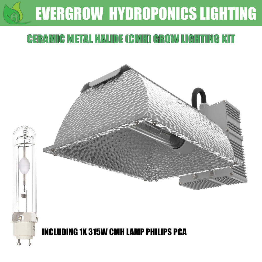 EverGrow 315W CMH - Ceramic Metal Halide Reflector Ballast Kit (4200K)