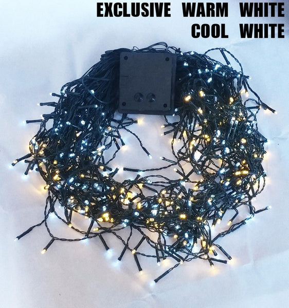 Solar 200/300/500/800/1000 LED Icicle String Lights