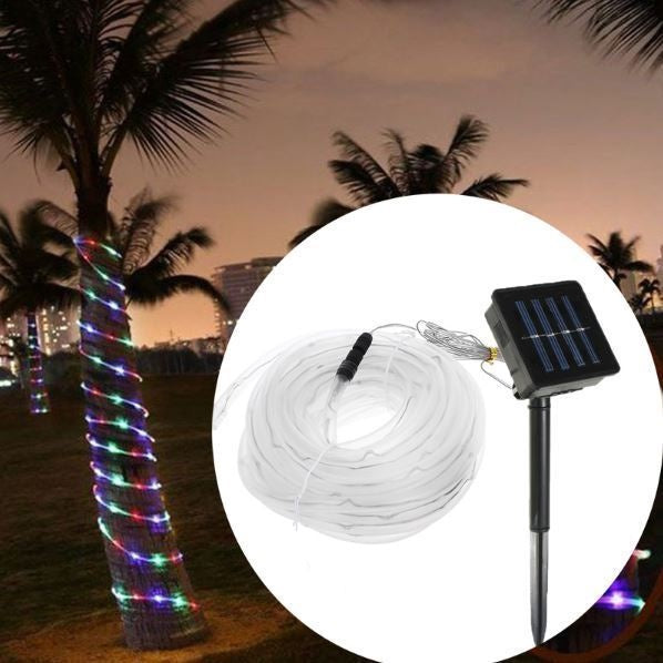 10M LED Solar Rope Light 8 Function Controller