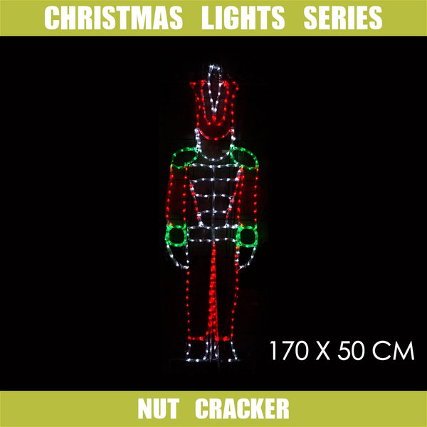 Christmas LED Motif Nut Cracker 170x50cm Indoor Outdoor Display Sign