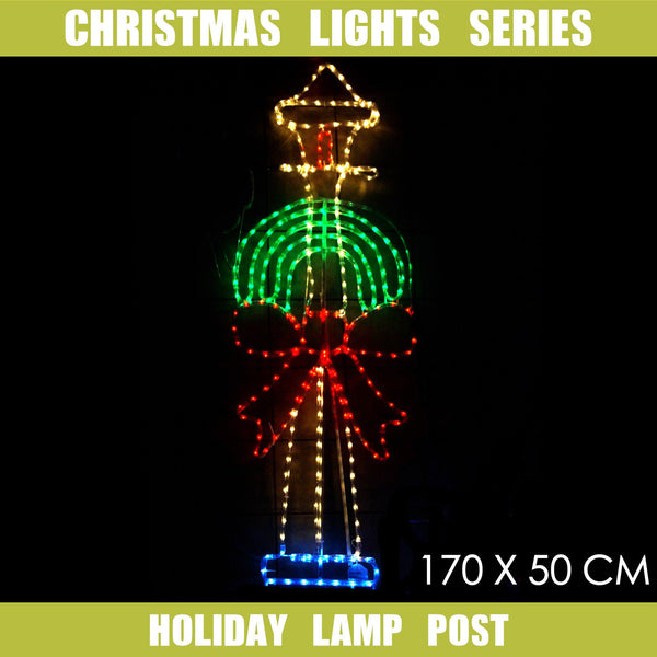 Christmas LED Motif Lamp Post 170x50cm Indoor Outdoor Display Sign