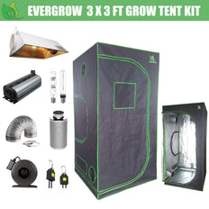 EverGrow Pro Series 3x3 ft (91x91x182 cm) Hydroponic Grow Tent Full Bundle Kit