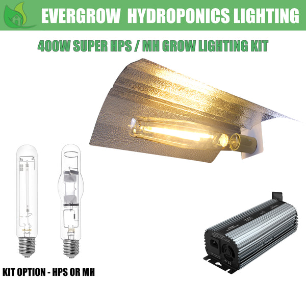 EverGrow 400W HPS/MH Grow Light Kit Includes Reflector Ballast