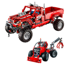Customised Pick Up Truck 1063 Block Pcs 2 in 1 Forest Skidder Lego Compatible