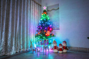 Smart WiFi APP Controlled RGB Indoor Christmas Tree Light for 6-7.5ft Trees
