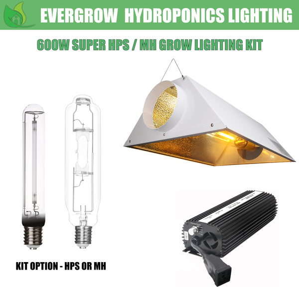 EverGrow 600W HPS/MH Grow Light Kit Includes Reflector Ballast