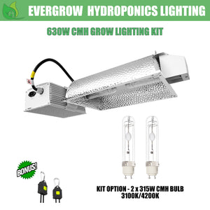 EverGrow 630W CMH - Dual Bulb (2x315W) Ceramic Metal Halide Reflector Ballast Kit