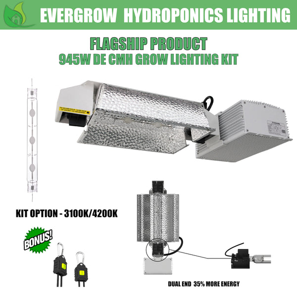 EverGrow 945W CMH - DE Double Ended Ceramic Metal Halide Reflector Ballast Kit