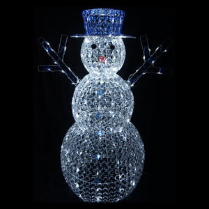 3D Crystal Snowman 50, 80, 120cm LED Display Indoor/Outdoor