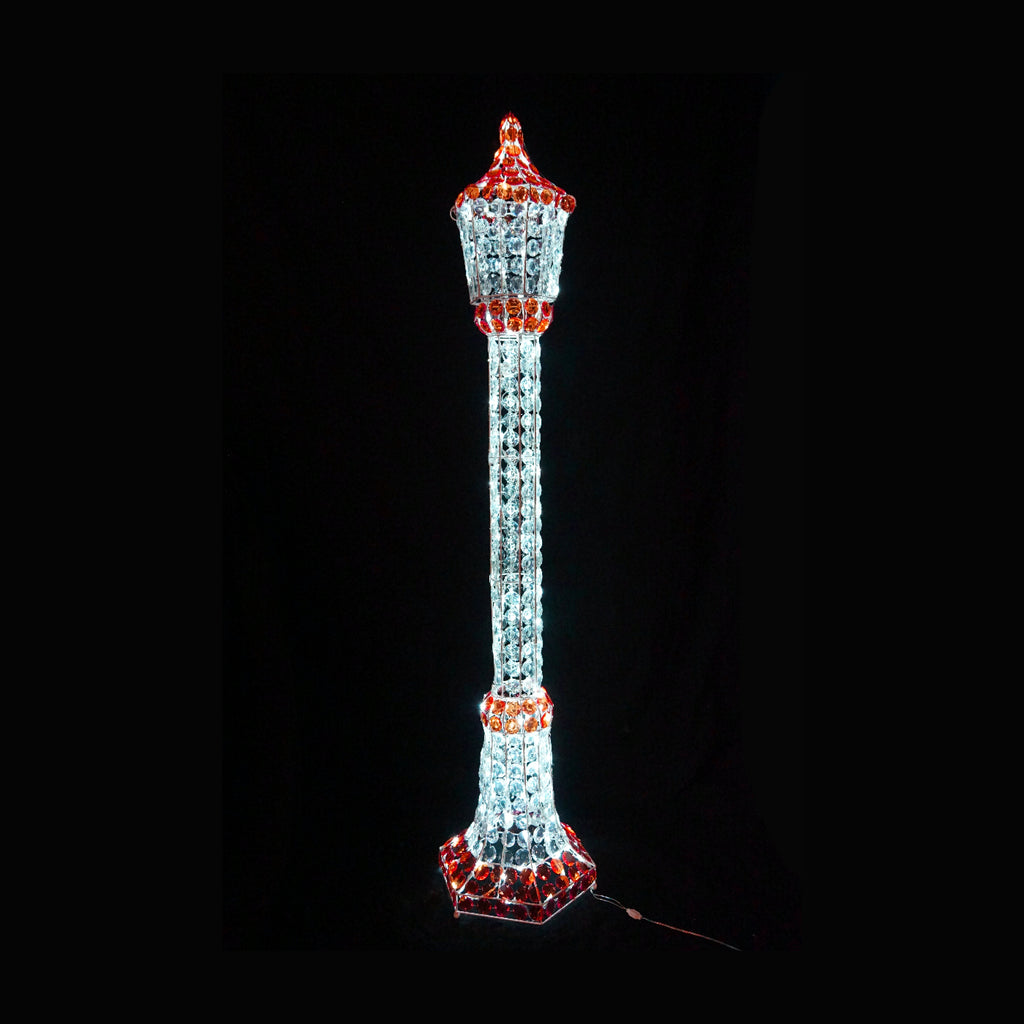 3D Crystal Beads Lamp Post 150cm LED Display Indoor/Outdoor