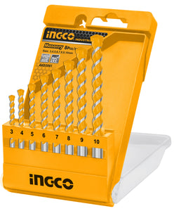 INGCO 8 Pcs Masonry Drill Bits Set 3-10mm