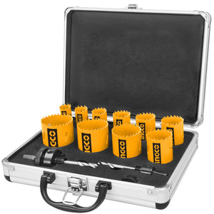 INGCO 12 Pcs Bi-metal Holesaw Set