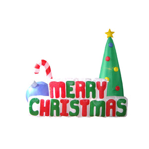 Inflatable 180cm Long Merry Christmas Sign LED Lit