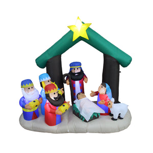 Inflatable 180cm Nativity Scene LED Lit