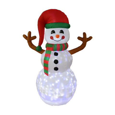 Inflatable 180cm Snowman With Special LED Light Effect