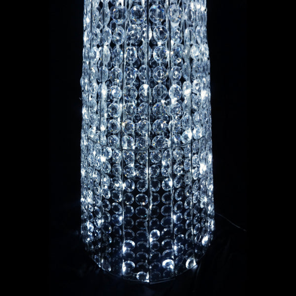 3D Crystal Cone Tree With Top Star 50x165cm 280 LED Display Indoor/Outdoor