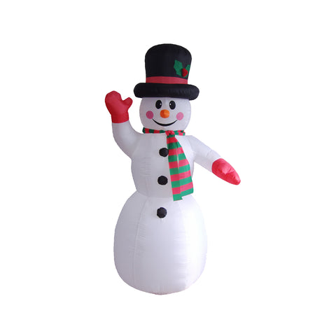 Inflatable 240cm Snowman LED Lit