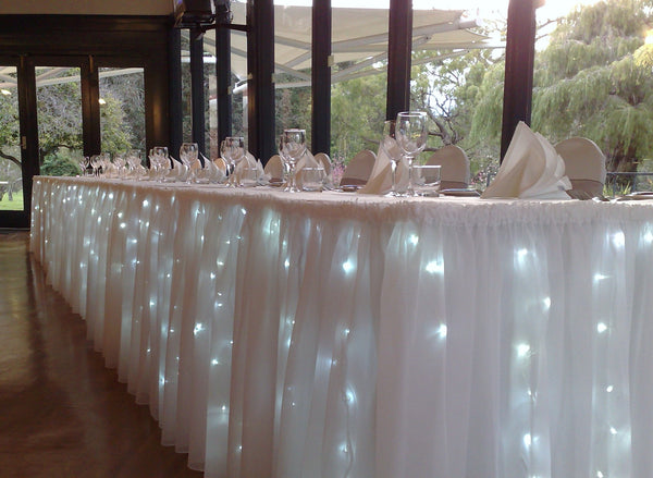 200 LED Table Curtain Wedding Function Lights 7m x 1m Indoor/Outdoor